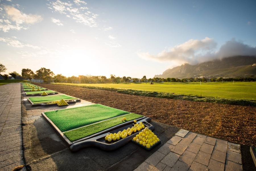 Steenberg driving range in the morning bright light
